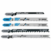 5 piece T-Shank Jig Saw Blade Set