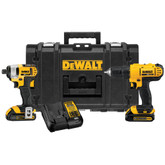 Dewalt 20v Max* Lithium-Ion Cordless Combo Kit With Tough Case