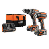 RIDGID 18V Brushless Hammer Drill/Impact Kit