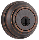 Collections single cylinder deadbolt - rustic bronze finish