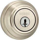 Collections single cylinder deadbolt - satin nickel finish