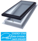 Venting Manual Self Flashing Triple Glazed LoE3 Clear Glass Skylight - 2 Feet x 4 Feet - Black Frame