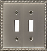 Double Toggle Solid Brass Pewter Finish