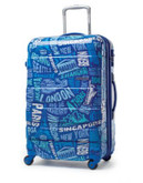 "American Tourister International 30"" Expandable Spinner Suitcase - BLUE - 29"