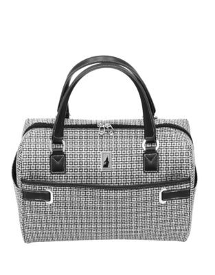 London Fog Stratford 17-Inch Cabin Bag - BLACK/WHITE - 17