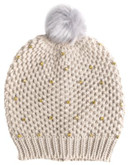 Collection 18 Rhinestone Ice Wall Beanie - FROSTED OATMEAL