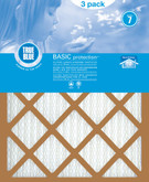 Basic Pleated 3-Pack Filters 16 in. x 25 in. x 1 in.