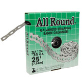 All Round Strapping, Galvanized, 24Ga 3/4 Inch x 25 Feet