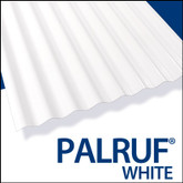 Palruf Cor. Pvc 12  Feet . White Opaque