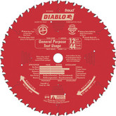 FREUD 12 In. Diablo General Purpose Blade - 44 Teeth