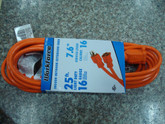 Indoor/Outdoor Extension Cord SJTW 16/3 25Ft