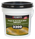 ROBERTS 3300 Max, 15L Performance+ Carpet and Sheet Vinyl Flooring Adhesive and Glue