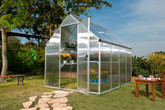 DeluxeTwin Wall  Greenhouse - Silver -  6 Foot x 8 Foot