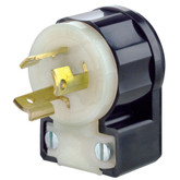Locking Plug 2 Pole 3 Wire 15A-250V, in Black