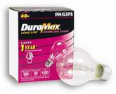 60W Clear Medium Bulb 2Pk