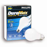 Duramax 60W Long Life Bulbs - 4-Pack