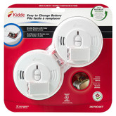Front Load Smoke Alarm with Hush Battery Operated - Twin