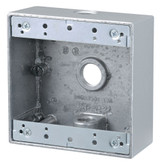 2 Gang Outdoor Box 3x1/2 In. Hole, Silver