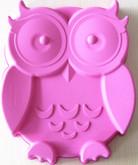 Pink silicone owl cake pan