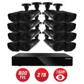 Defender - Home Security System - 16CH, WS/HDMI, 2TB + 16 x WS 800TVL, 48IR LED