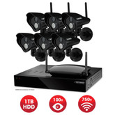 Defender Pro Connected - Home Security System - 8CH 1TB DVR 6x520TVL Digital Wireless Cameras