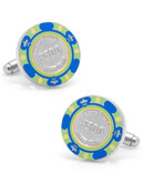 Cufflinks Inc. 500 Dollar Blue Poker Chip Cufflinks - Blue