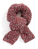 Black Brown 1826 Chunky Knit Tweed Scarf - Red