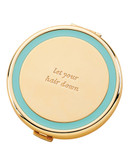 Kate Spade New York Holly Drive Compact Let your Hair Down - TURQUOISE