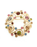 Jones New York Boxed Multi Stone Wreath Pin - Gold