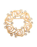 Jones New York Boxed Pearl Wreath Pin - Gold/Pearl