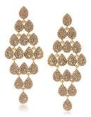 Carolee Mimosa Chandelier Pierced Earrings Gold Tone Crystal Chandelier Earring - Gold