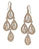 Carolee Topaz Crystal Chandelier Earrings - Gold