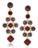 Carolee Berry Chic Large Chandelier Pierced Earrings - Red