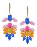 Carolee Rio Radiance Chandelier Pierced Earrings - Multi Coloured