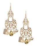 Expression Filigree Chandelier Earrings - Gold