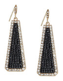 A.B.S. By Allen Schwartz Trapezoid Drop Earrings - Gold