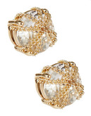 A.B.S. By Allen Schwartz Faux Crystal Stud Earrings - Gold