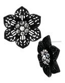 Betsey Johnson Black Out Metal Stud Earring - Black
