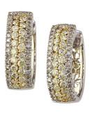 Effy 14k White and Yellow Gold Diamond Yellow Diamond  Earrings - Diamond