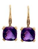 Effy 14K Rose Gold Diamond And Pink Topaz Earrings - Topaz