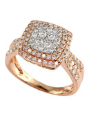 Effy 14K White and Rose Gold 0.75ct Diamond Ring - Diamond - 7