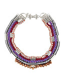 424 Fifth Multi Colour Collar Rope Necklace - MULTI
