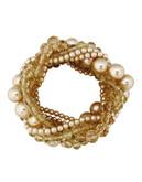 Cezanne Beige Pearl Bracelet - Beige