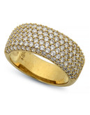 Crislu Pave Gold Plated  Cubic Zirconia  Ring - Gold