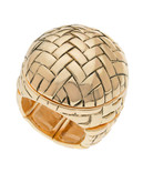 Guess Basketweave Ring - Gold