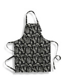 Distinctly Home Print Apron - BLACK