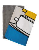 Jamie Oliver Set of 2 Tea Towels - GREY - 18 W