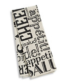 Distinctly Home Print Tea Towel - White