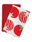 Jamie Oliver Set of 2 Tea Towels - Red - 18 x 28 Inches