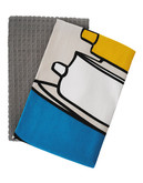 Jamie Oliver Set of 2 Tea Towels - Grey - 18 x 28 Inches